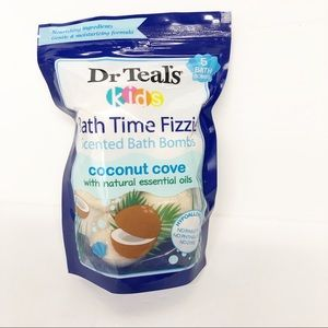 Dr Teal's Kids Coconut Cove Scented Bath Bombs